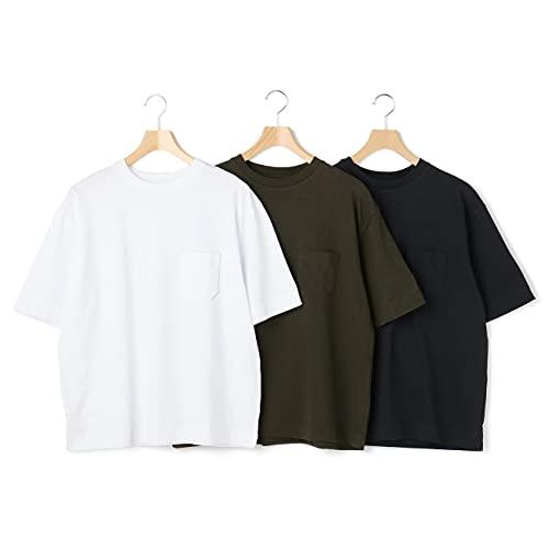 [オリヒカ] 半袖シャツ3点セット クルーネック 綿コットン 無地 メンズ マルチカラー M