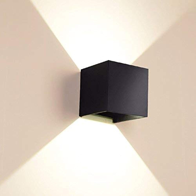 Light Led Doppel Auenwand Lampe Outdoor-Auenleuchten Modernen Innenhof Garten Wandleuchte,Schwarz