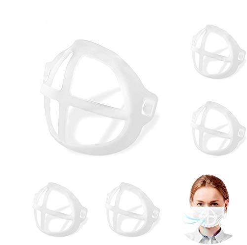 KATELUO 10 Pezzi Staffa Interna 3D, Supporto per la Protezione del Rossetto,Staffa per la Protezione del Viso,Riutilizzabile,Supporto Interno per Il Naso
