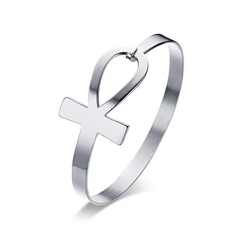 NA Armband SchmuckEdelstahl Ankh Kreuz Armband Für Frauen Schlüssel des Lebens Armreif Brase Pulseiras Ägypten Religiöser Schmuck B-284S