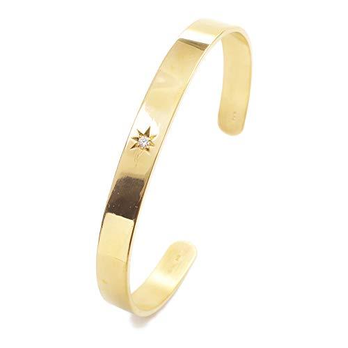 純金 無垢 バングル ダイヤモンド入 造幣局検定刻印入 後光掘り K24