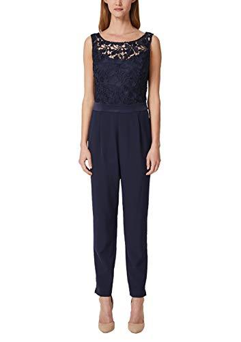 s.Oliver BLACK LABEL Damen 70.903.85.5551 Jumpsuit, Blau (Deep Sea 5954), (Herstellergröße: 36)