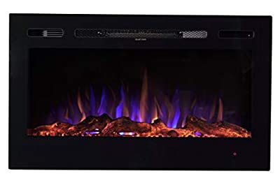 Sun-Ray 111005 Recessed Electric Fireplace