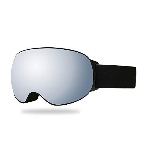 Bradoner Plata Doble Anti-vaho Gafas De Esquí Lentes Esféricas TPU Cocker Miopía Equipo De Deporte, Al Aire Libre Regalos De Escalada For Hombres De Las Mujeres