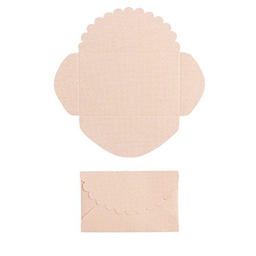 Mini sobres, 100 unidades, sobres pequeños, sobres para joyas para cupones, regalos de dinero, cumpleaños, boda, aniversario, día de la madre, día de San Valentín, (salmón, 4,2 x 6,6 cm)