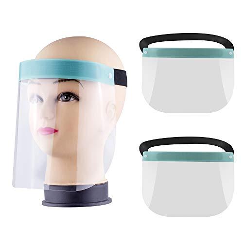 2 Stück Anti Fog Gesichtsschutz Schutzvisier Face Shield Visier Augenschutz Gesichtsvisier Schutzschild Gesichtsschutzschild