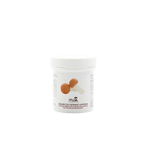 Hawlik Vitalpilze - Agaricus Extrakt Kapseln - 60 Kapseln - 300mg Vitalpilz Extrakt und 40mg Acerola Extrakt - Qualitätsgeprüft