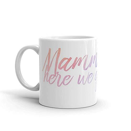 Lsjuee Mamma Mia. Las tazas de 11 onzas son el regalo perfecto para todos. Tazas de cerámica brillantes de 11 onzas de regalo para amantes del café