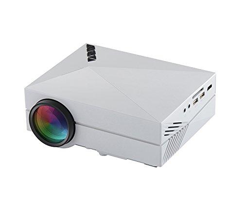 AbdTech ミニLEDプロジェクター 1000ルーメン 800*480 HD解像度サポート1920×1080 ホワイト
