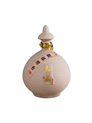 CHUJIAN - Botella de cerámica sellada con esmalte mate, simple retro, 500 ml, 1000 ml, 1500 ml, 2500 ml, 5000 ml, caja de regalo china (capacidad: 2500 ml)
