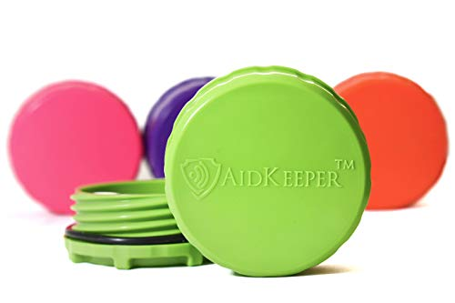 AidKeeper Hearing Device Protection Case - Crush & Water Resistant Hard Case for Storage and Protection of Hearing Aids, Spare Batteries, and Other Hearing Devices (Lime Green)