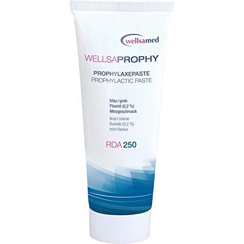 wellsamed Wellsaprophy Prophylaxepaste RDA 250, Körnung grob, 95 g Tube, Polierpaste, Zahnpolierpaste, Prophy-Paste dental, zahnärztliche Profi-Polierpaste, 1 Stück