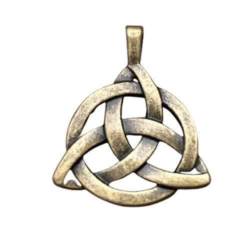 3pcs Own Charm ~Celtic Knot Charms, Antique Bronze 2 Sided Celtic Knot Pendants,triquetra, Celtic Triquetra Knot, Trinity Knot 30x29mm
