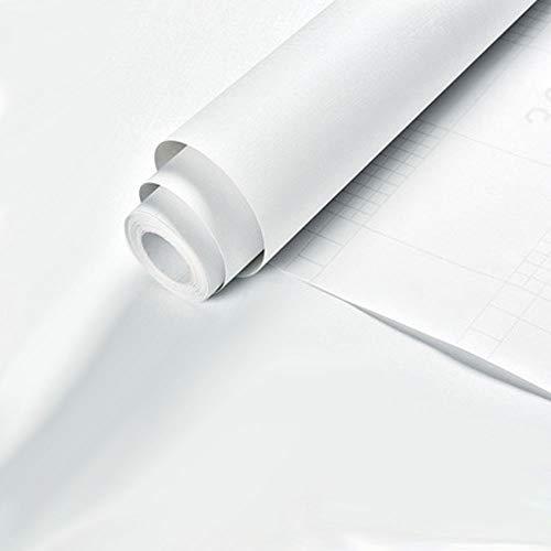 Kitchen-dream Carta da parati a tinta unita, Carta da parati in PVC autoadesiva, Carta da parati autoadesiva bianca, Carta da parati per pareti per pareti, Fodera per scaffali, Tavolo, Porta