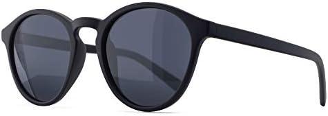 SUNGAIT Women s Classic Round Polarized Sunglasses Retro Vintage Style UV400 Black Frame Matte product image