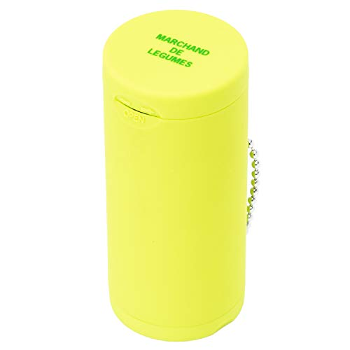 Dreams(ドリームズ) 携帯灰皿 ポケットアッシュトレイ ラバー ハニカム 6本収納 ライトグリーン MDL45095 直径3.5×高さ7.8cm
