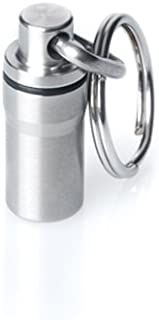 GUS Mini Pill Fob, Made in USA, Stainless Steel Keychain Pill Holder, Emergency Aspirin Holder, Compact Design