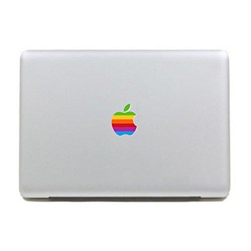 Colorful Retro Rainbow Apple Logo -Creative Vinyl Cartoon Partial Skin Decal Sticker for Apple MacBook Pro/Air 13 Inch Laptop (Retro Apple Logo)