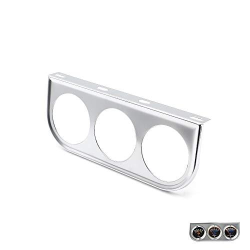 YIBANG-DIANZI Soporte de medidor Triple for Coche Soporte de 2 Pulgadas y 52 mm Medidor de medidor de Coche Pod Dash Mount Dual 3I Soporte de medidor de Coche (Color : Chrome)