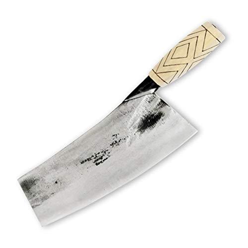 Cuchillo profesional Cuchillo de carnicería de chef de 8 pulgadas High-forjado High Carbon Acero de acero de carne de corte de carne cortada de esquina Cuchillo de cocina con mango de madera