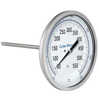 """Cole-Parmer Industrial Bimetal Thermometer 3"""" Financial sales sale Back price C Dial"""
