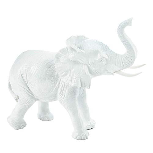 Accent Plus White Elephant 7.5x2.5x7