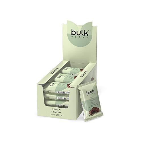 Bulk Vegan Protein Brownie, Chocolate, Pack of 12, Packaging May Vary