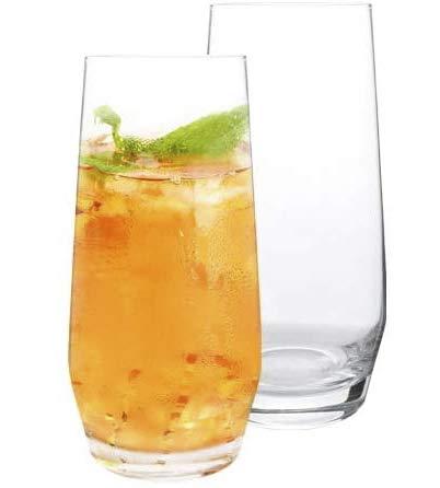 [6-Pack, 550 ml/18.6 oz] Design • Master - da Cocktail di Alta Qualità, Bicchieri Alti con Base Pesante, Bicchieri per Acqua, Succhi, Birra e Cocktail.