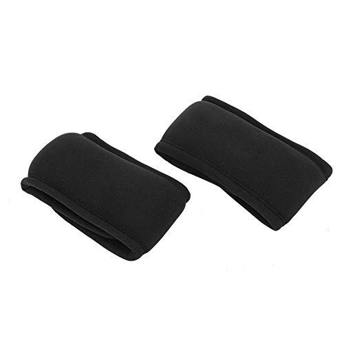 2Pcs 1KG Poids Garde-poignet Sac de sable Garde-poignet 1KG Poids Équipement ultra-mince réglable pour la course de fitness(32*6CM)