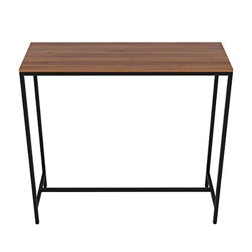 Hironpal Breakfast Bars Tables Narrow Rectangular Bar Table, Kitchen Table, Pub Dining High Table, Steel Frame