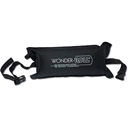 Wonder-Roll Self Inflating Travel Lumbar Pillow | Self Inflating Pillow Helps to Relax The Back. Use as an Inflatable Back Pillow, Inflatable Lumbar Pillow, and Inflatable Back Support