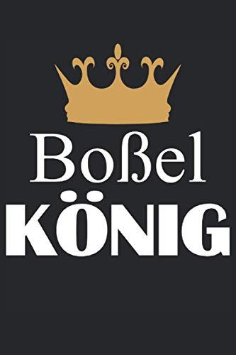 Boßel König - Boßeln Meister Profi Herren Geschenk Notizbuch (Taschenbuch DIN A 5 Format Liniert): Boßeln Geschenkidee Notizbuch, Notizheft, ... lieben. Für echte Boßel Profis und Meiste