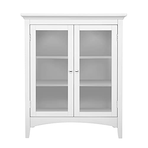 Small White Double Door Bookcase