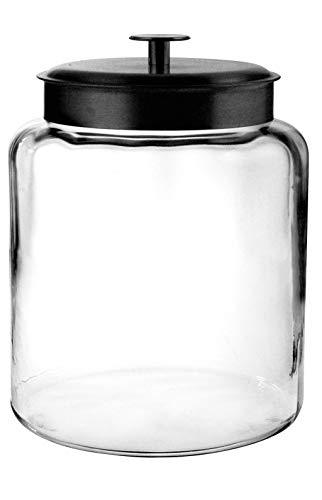 2 gallon glass crock with lid