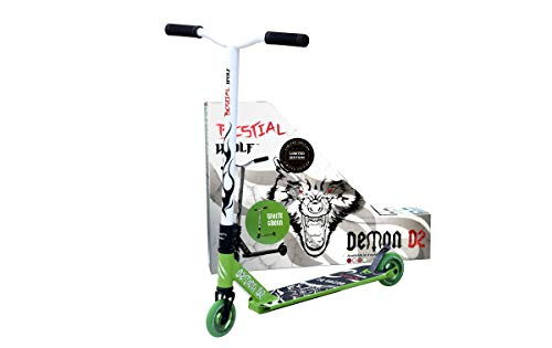 Bestial Wolf Demon D2 Limited Edition metalen wielen Core Radical Kleur Green Scooter Freestyle Professionele startstand