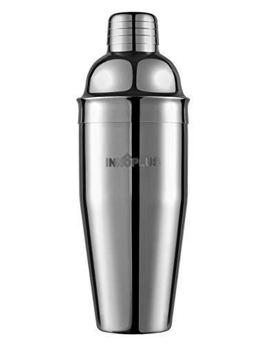 INNÔPLUS Cocktail Shaker, Martini Boston Shaker in Acciaio Inox, 25 Ounce (750 ml) Professionale Shaker Cocktail Boston, Barman Strumenti per Bar con colino da Cocktail, Set Cocktail di Regalo