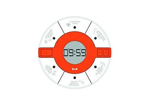 Aubecq 500294 timer tot deeg kunststof wit 7,5 x 7,5 x 2 cm