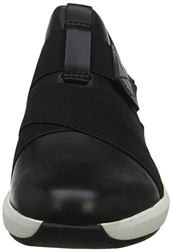 Clarks Un Rio Strap, Zapatillas Mujer, Negro (Black Leather Black Leather), 37 EU