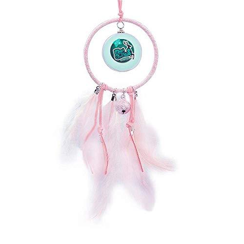 Beauty Gift Happy Christmas - Atrapasueños con diseño de renos, color azul