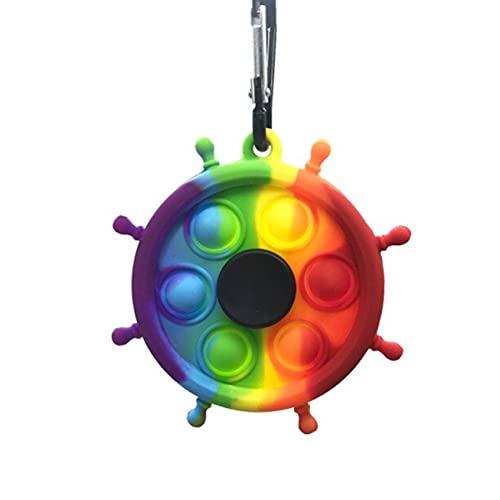 Brinquedo Pop It Spinner Giratório Anti Stress Sensorial Aumenta Criatividade [Coronitas Acessorios]