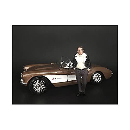 Price comparison product image American Diorama 38194 Collectible Miniature Car Black / White