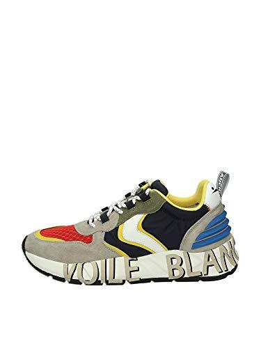 VOILE BLANCHE Club 12-Sneaker in Tessuto Tecnico e Suede Multicolore 40