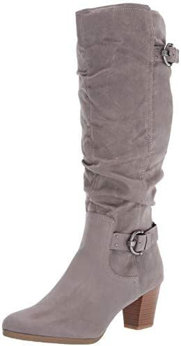 RIALTO Women s Farewell Size 7 5 Knee High Boot Lt Grey Vintage Suedette product image