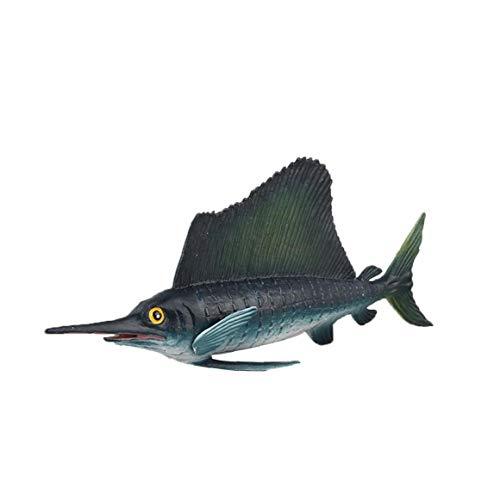 Heall Schwertfisch-Aquarium Dekor Ozean Bildung Tier Figur Modell Kind-Kind-Spielzeug Educational Supplies