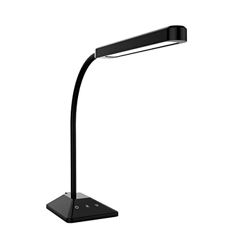 LED Desk Lamp Flexible Gooseneck Table Lamp with Touch Control 5 Brightness Levels Adjustable Night Light Eye-Caring Dimmable Table Light(Black)