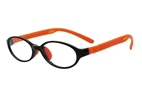 フロートリーディング(老眼鏡)テンプル(腕)のカラーを選べる グッドデザイン賞受賞のオシャレな老眼鏡 鯖江企画 驚きの掛け心地 首にも掛けれる ブルーライトカット 超軽量 モデル:オニキス (オニキス + オレンジ, 度数2.5)