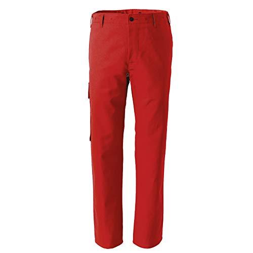 Rofa Bundhose 225 Rot Arbeitshose Arbeitskleidung, Größe:48