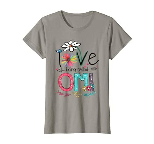 Womens I Love Being Called Omi Sunflower T-Shirt