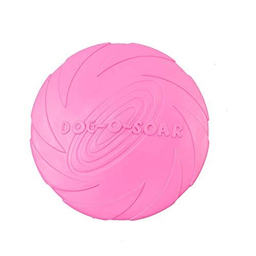 Hardworking person-ZHL Hundefrisbee,Große Frisbee Hundespielzeug Wasser schwimmend Outdoor Fitness Flying Ring,Interaktive Trainings für mittlere und große Hunde.pink-M