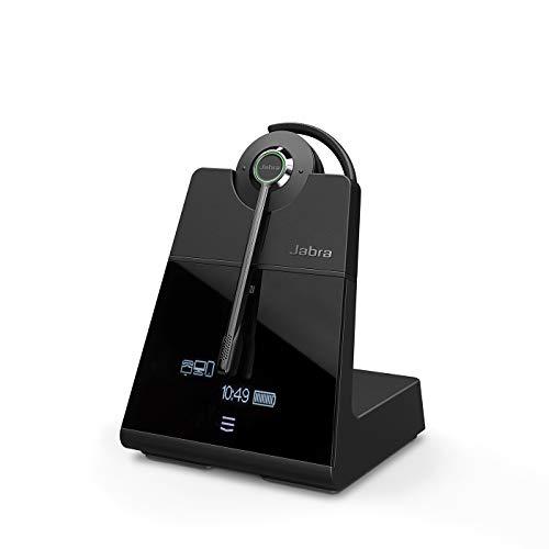 Jabra Engage 75 Convertible On-Ear DECT - Auriculares inalámbricos certificados para Skype para Empresas - para teléfonos de Escritorio y softphones - Negro - Versión para la UE
